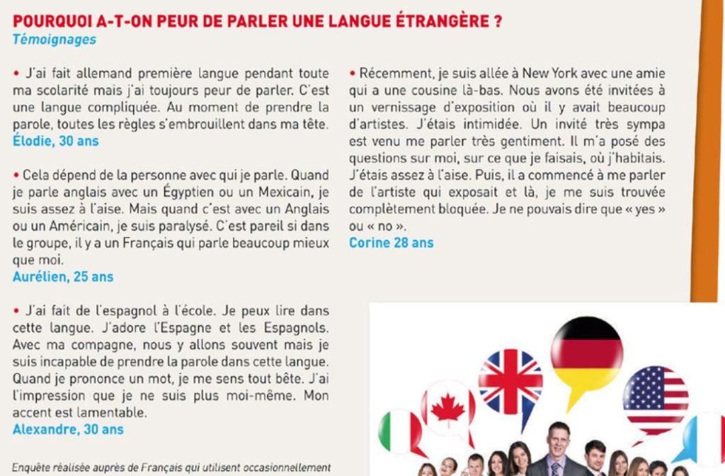 Parler une langue etrangere